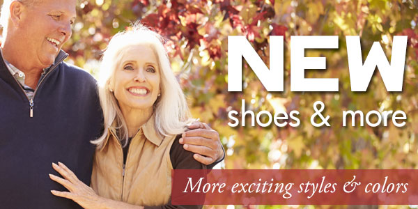 New sandals, shoes & clogs at Happy Feet Plus