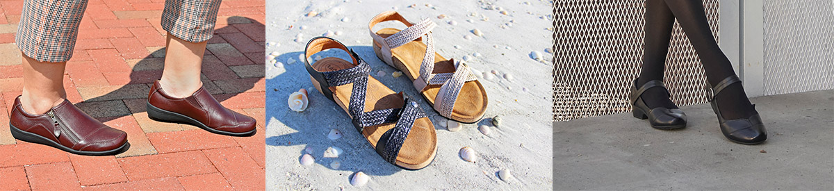 Taos Sandals, Shoes & Clogs at Happy Feet Plus