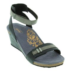 Aetrex Gia Black Sandals