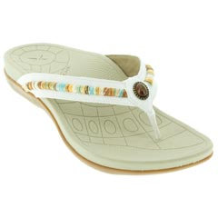 Aetrex Hazel White Sandals
