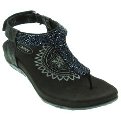 Aetrex Jade Black Sandals