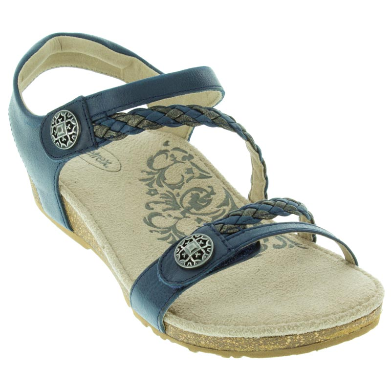 Aetrex Jillian Navy Sandals