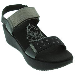 Aetrex Tiffany Black Sandals