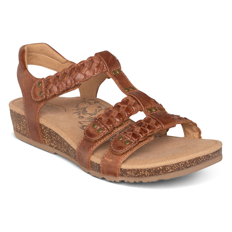 Aetrex Reese Cognac Leather 8 M
