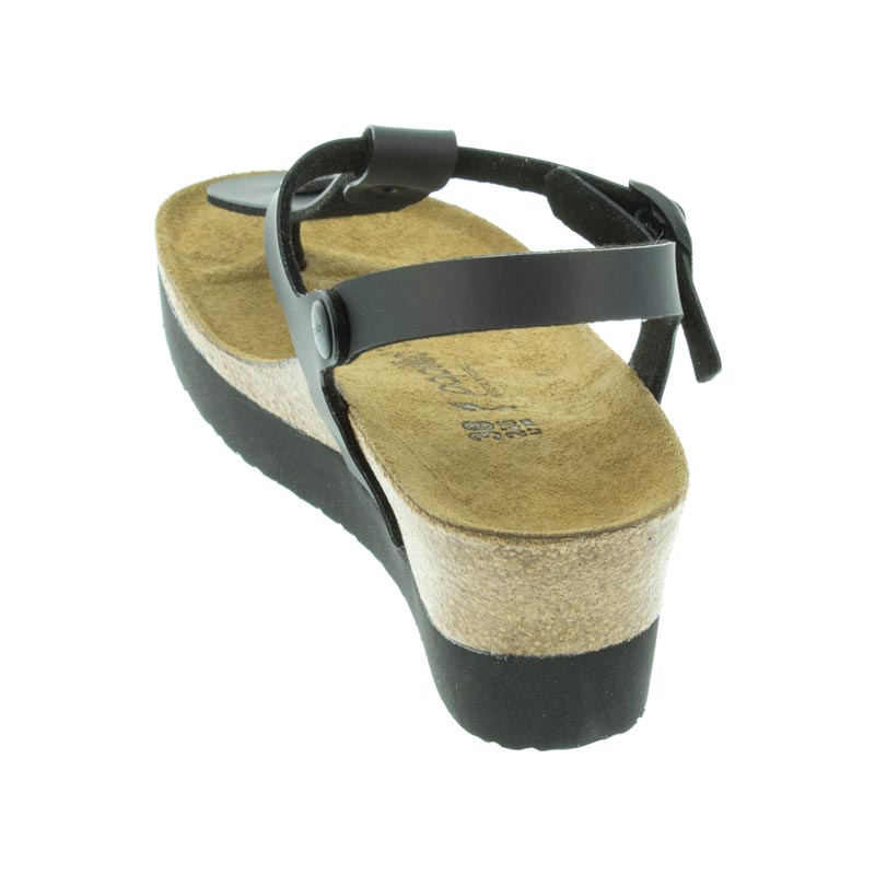 Birkenstock Ashley Iridescent Black Birko-Flor back view