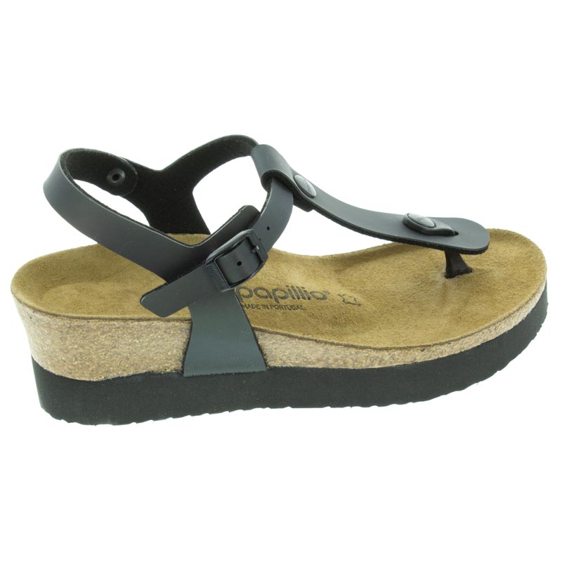 Birkenstock Ashley Iridescent Black Birko-Flor right side view