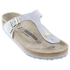 Birkenstock Gizeh Washed Metallic Blue Sandals