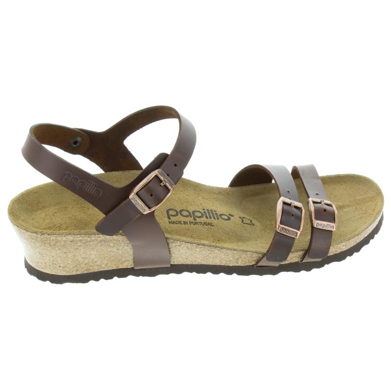 Birkenstock Lana Cognac Leather right side view