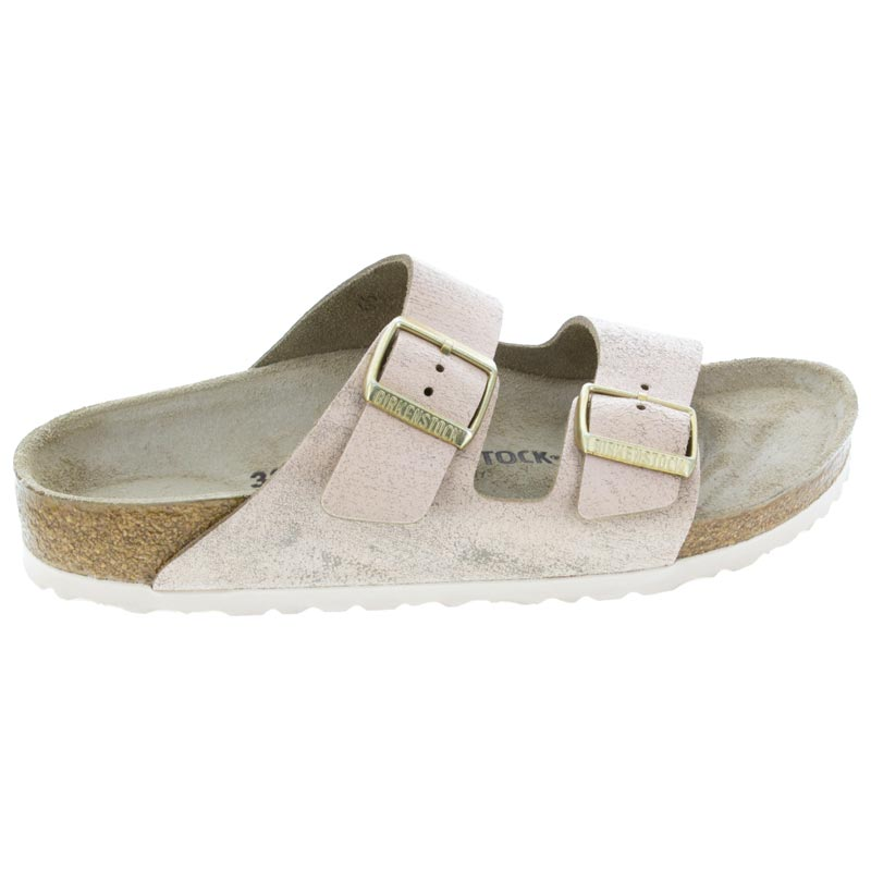 Birkenstock Arizona Washed Metallic Rose Leather right side view