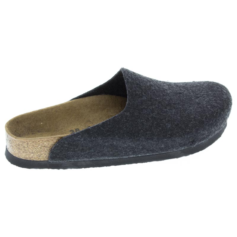 Birkenstock Amsterdam Anthracite Wool side view