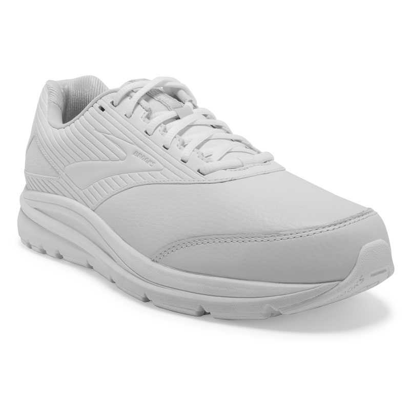 Brooks Addiction Walker 2 (Men's) White Leather 85 2E