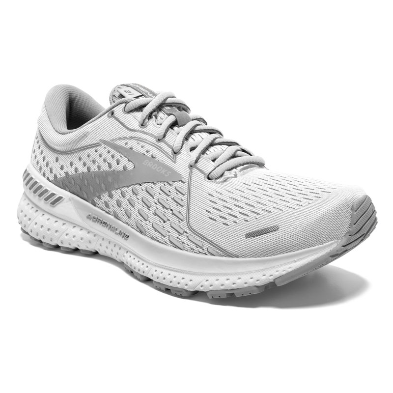 Brooks Adrenaline Gts 21 (Women's) White Synthetic 8 D