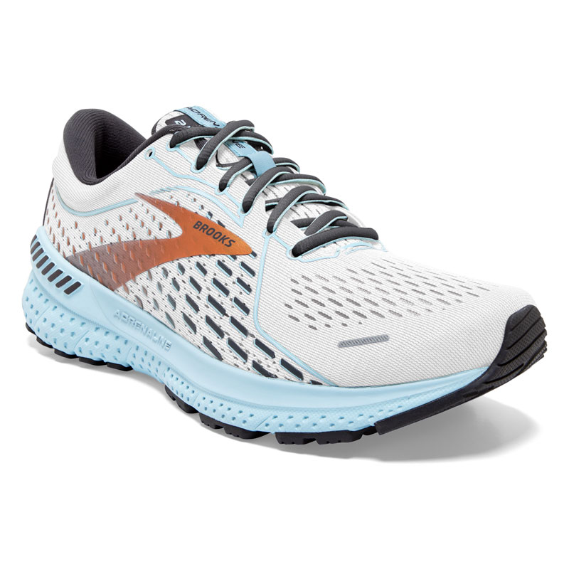 Brooks Adrenaline Gts 21 (Women's) White Synthetic 11 D