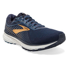 Brooks Ghost 12 (Men's) Navy/Gold Shoes