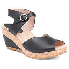 Dansko Charlotte Black Sandals