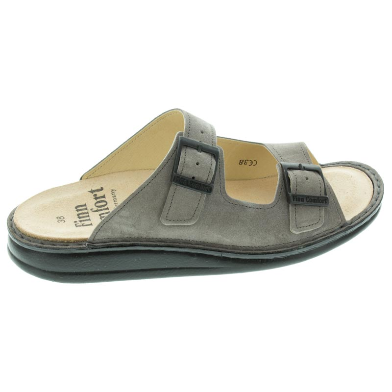 Finn Comfort Hollister Ginger Velour Leather Soft Footbed right side view