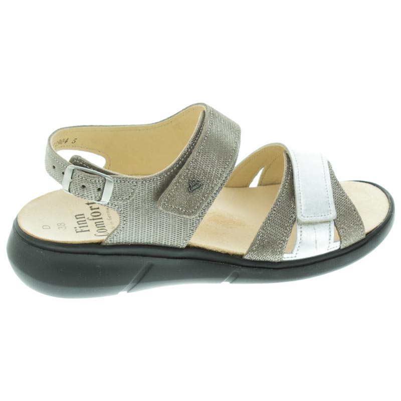 Finn Comfort Nadi Fango/Silver Leather right side view