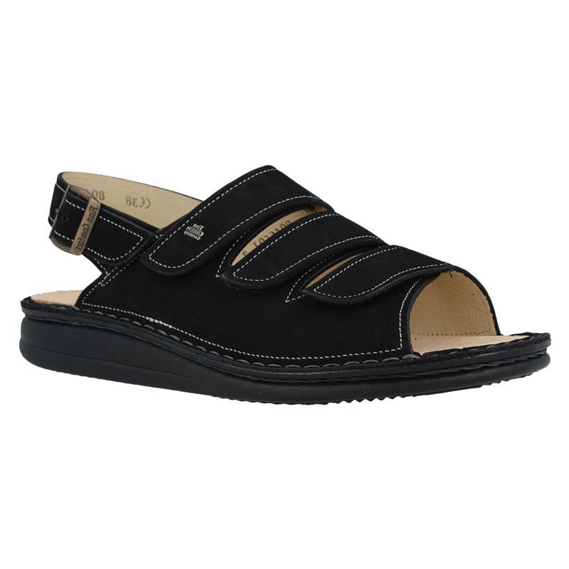Finn Comfort Sylt Black Nubuck Soft Footbed 37