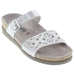 Mephisto Hirena Silver Sandals