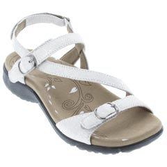 Taos Beauty White Metallic Sandals