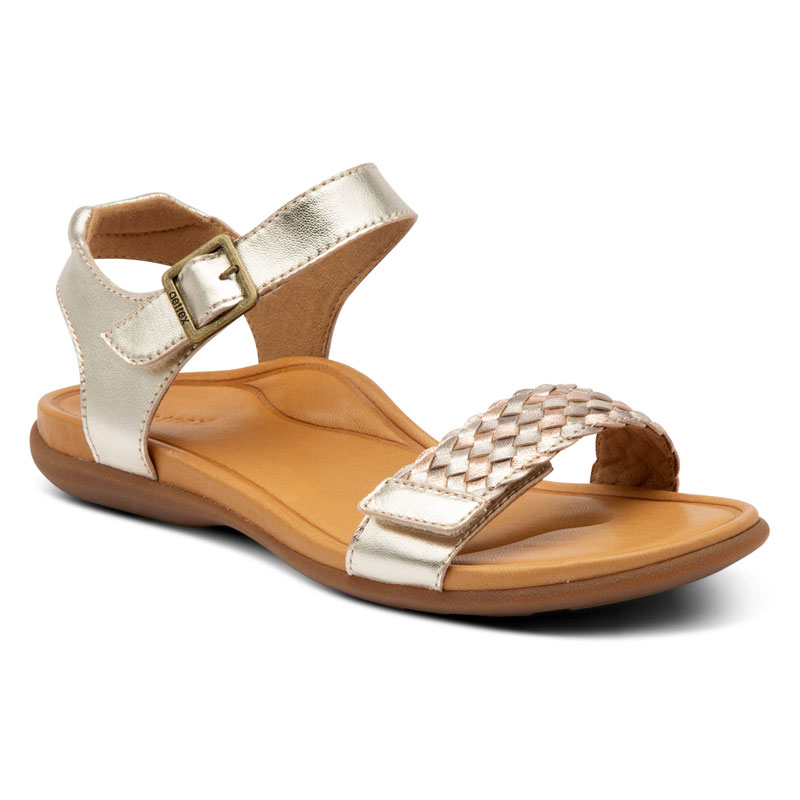 Aetrex Lucy Metallic Leather 42