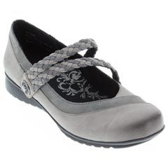 Aetrex Ada Leather Gunmetal Shoes