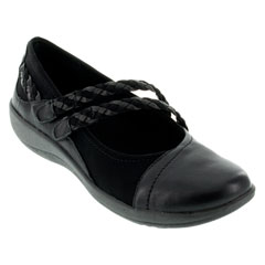 Aetrex Annie Black Shoes