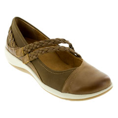 Aetrex Annie Cognac Shoes