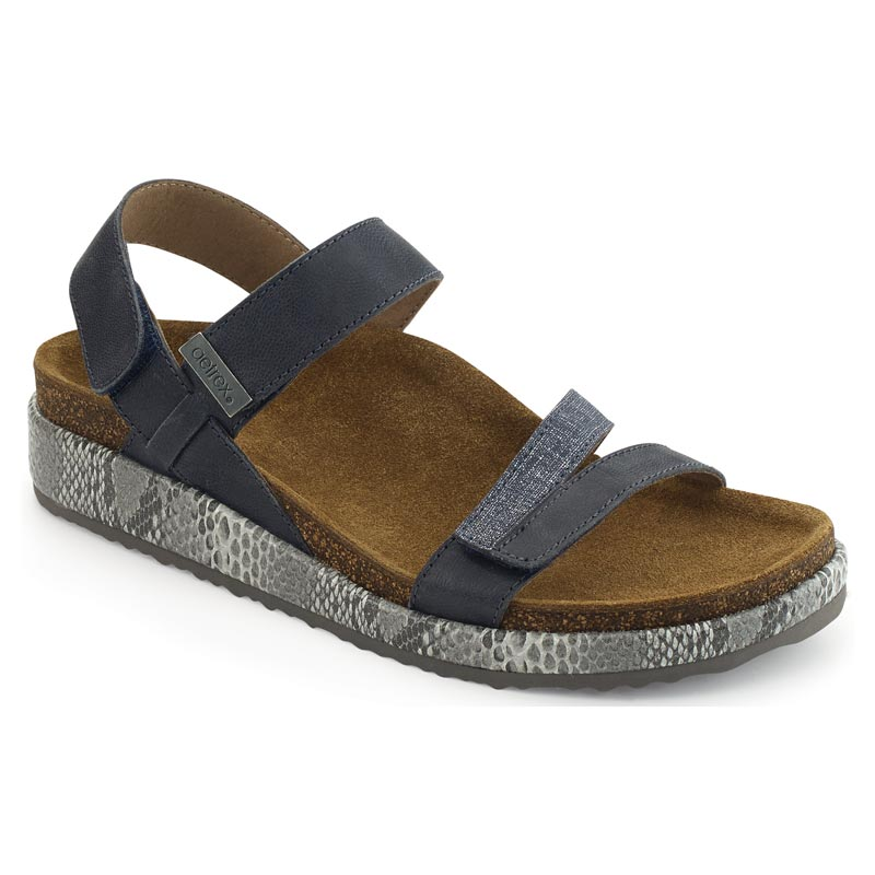 Aetrex Bethany Navy Sandals