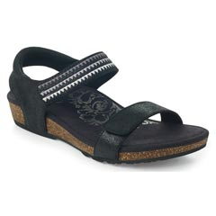 Aetrex Capri Black Sandals
