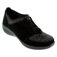 Aetrex Casey Black Shoes