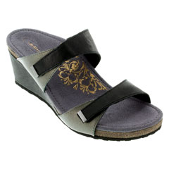 Aetrex Chantel Black Sandals
