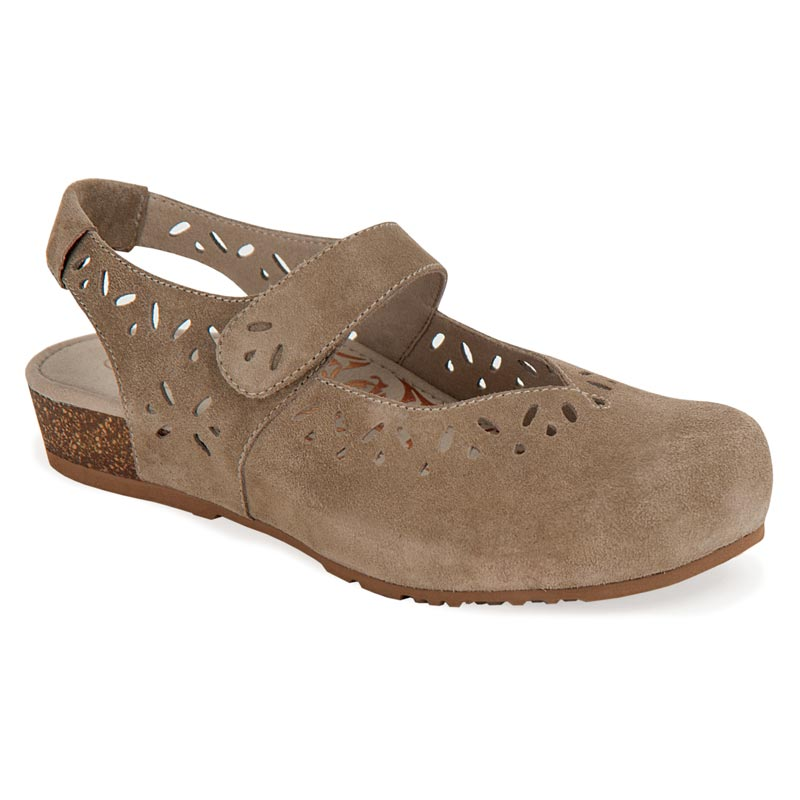 Aetrex Cheryl Taupe Shoes