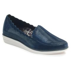 Aetrex Christie Blue Snake Shoes