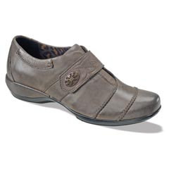 Aetrex Corinne Leather Grey Shoes