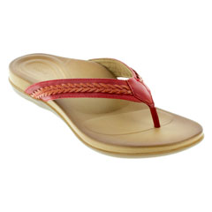 Aetrex Emmy Red Sandals