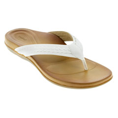 Aetrex Emmy White Sandals