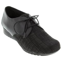 Aetrex Erin Leather Black Shoes