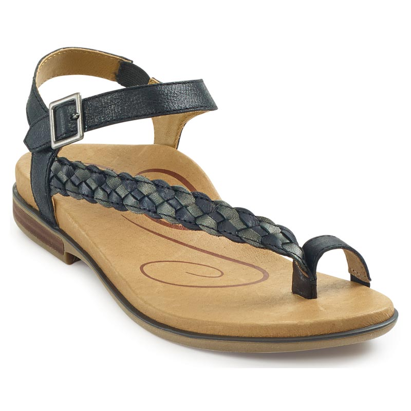 Aetrex Evie Black Sandals