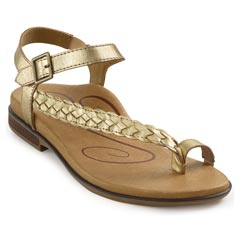 Aetrex Evie Gold Sandals