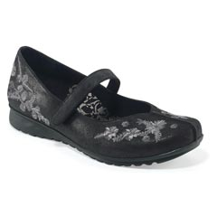 Aetrex Farrah Black Shoes