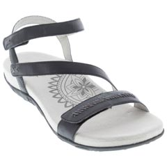 Aetrex Gabby Black Sandals