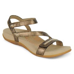 Aetrex Gabby Bronze Sandals