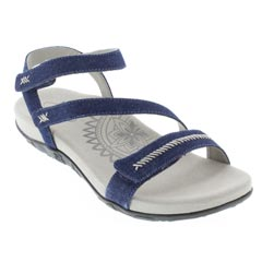 Aetrex Gabby Denim Sandals
