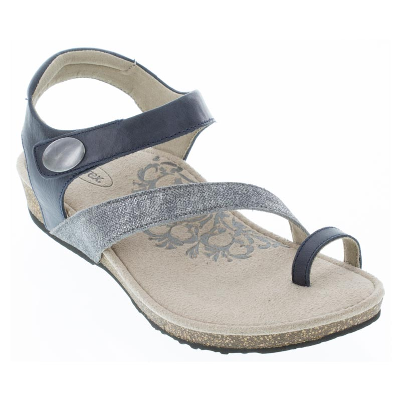 Aetrex Georgia Navy Sandals