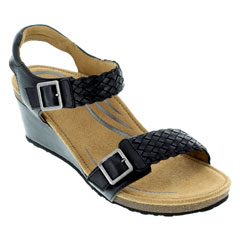 Aetrex Grace Black Sandals