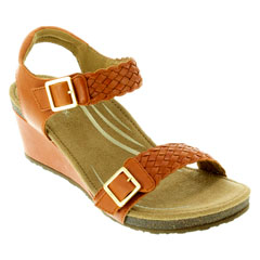 Aetrex Grace Tangerine Sandals
