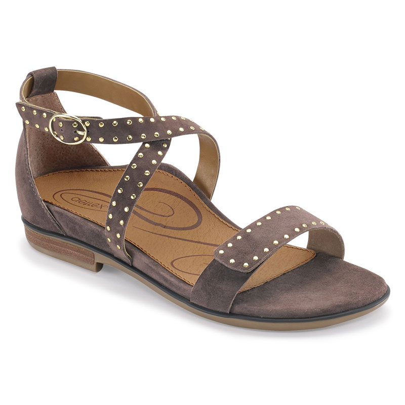Aetrex Hailey Deep Taupe Suede 37