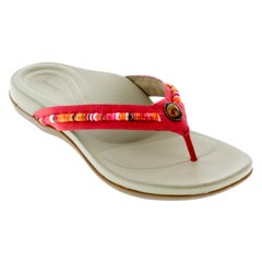 Aetrex Hazel Red Sandals