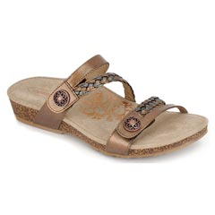 Aetrex Janey Bronze Sandals